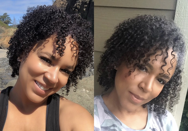 natural hair growth before and after