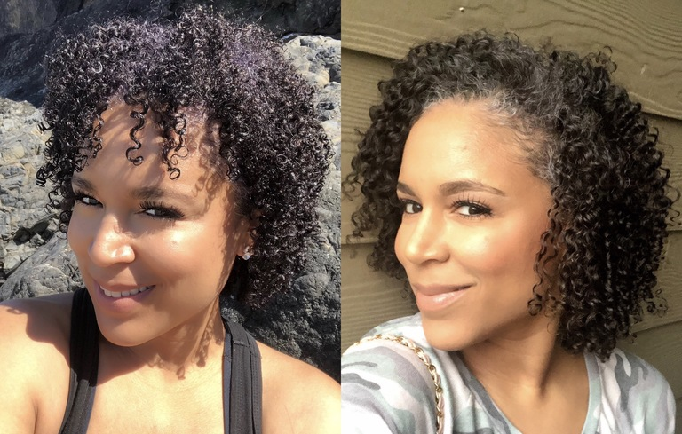 natural hair before and after