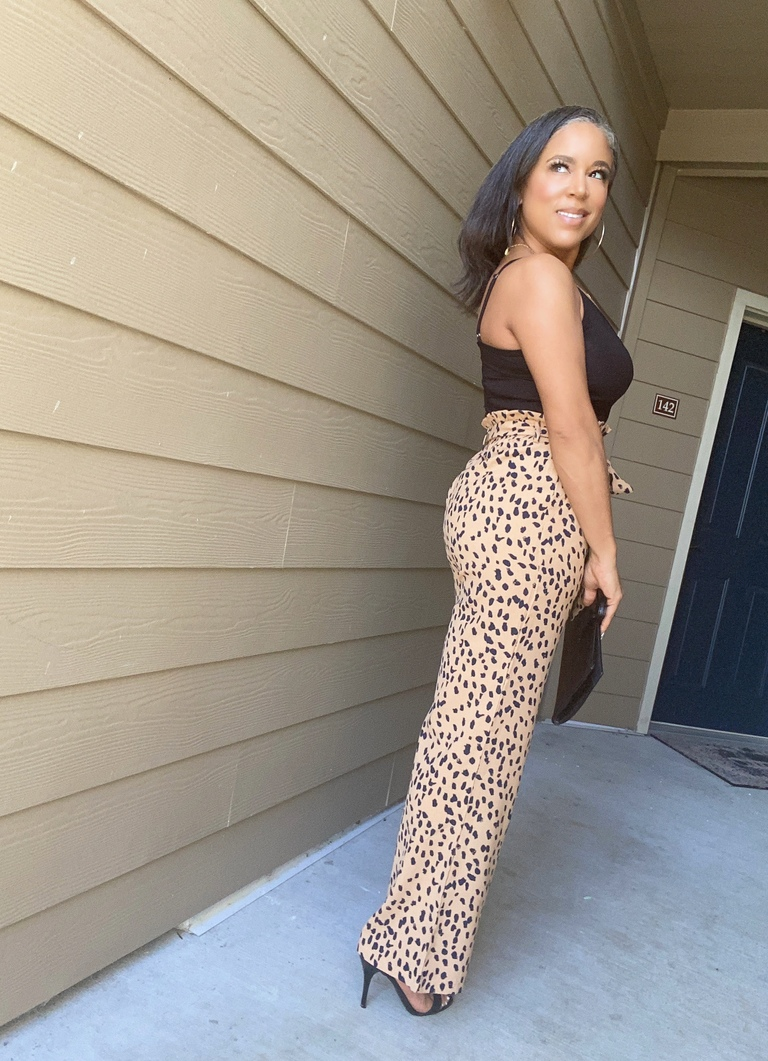 leopard wide-leg pants