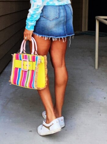 colorful tie-dye outfit