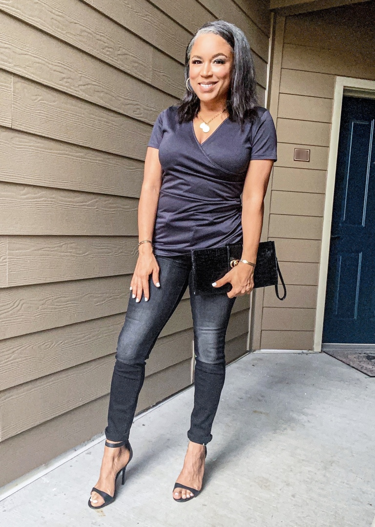charcoal wrap top