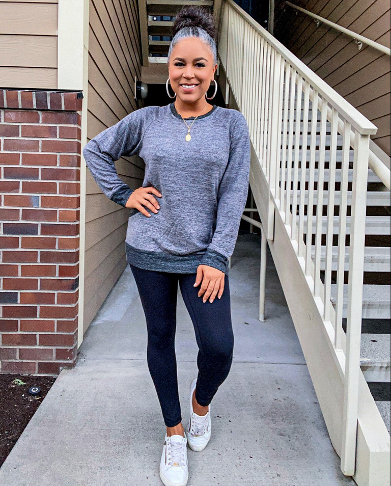 relaxed gray tunic