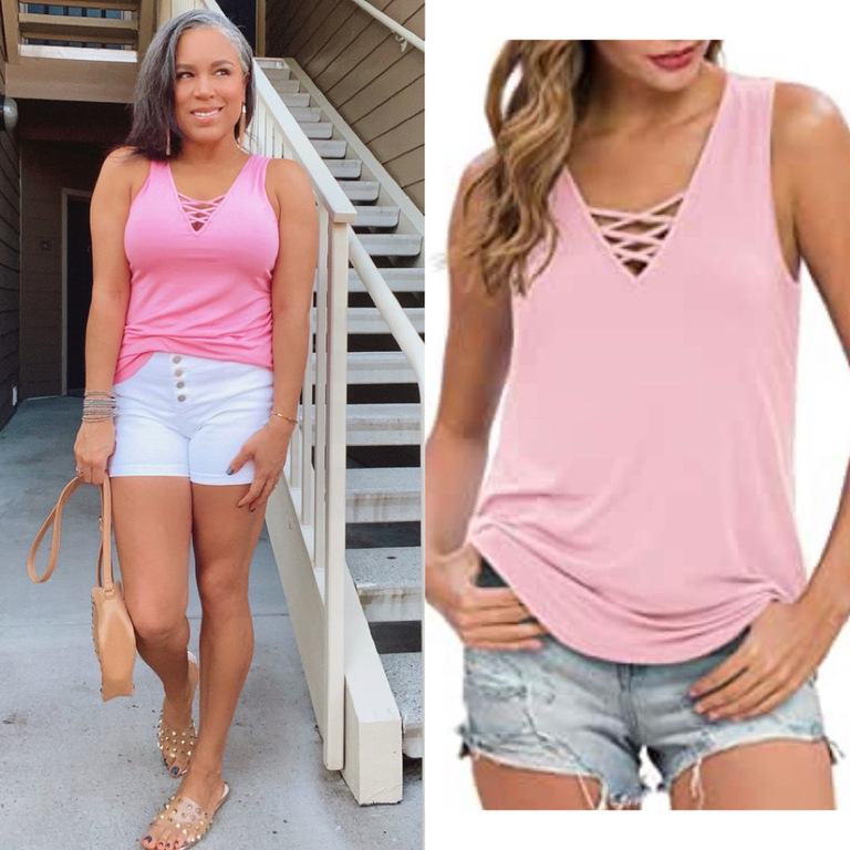 pink tank top May Amazon finds