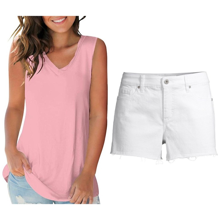 cute pink summer outfit