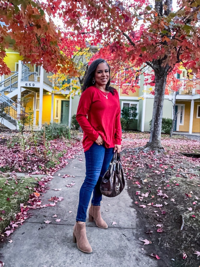 red tunic top long sleeve amazon finds