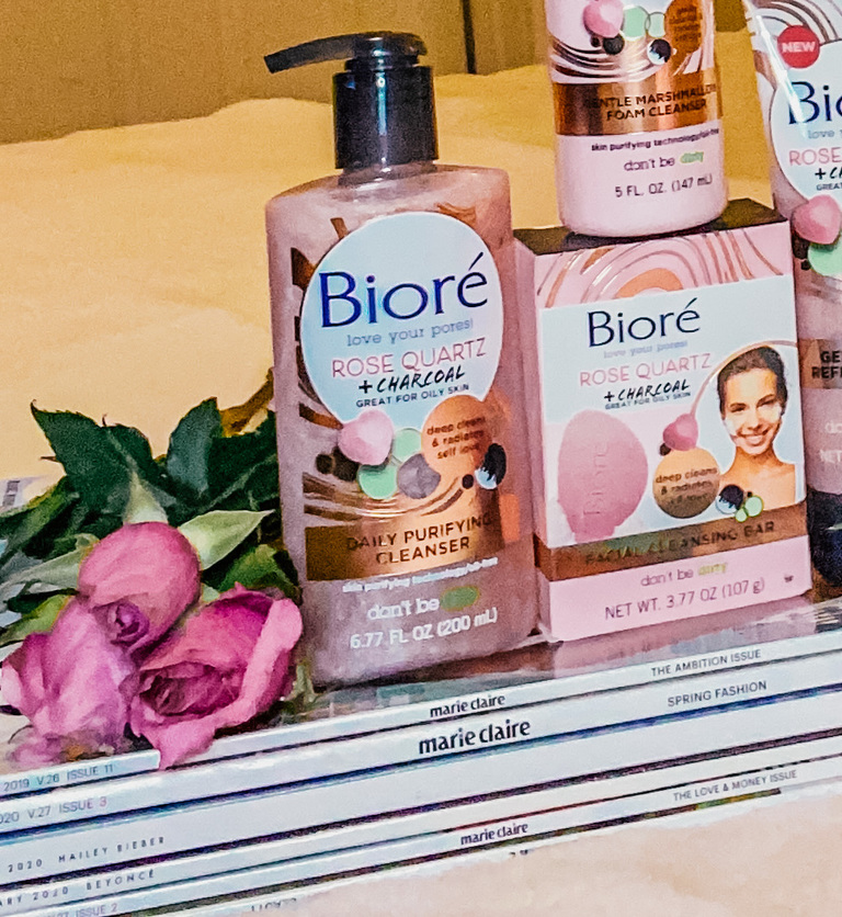 Biore Rose Quartz Charcoal products