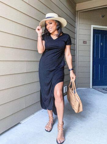 blogger style maxi dress